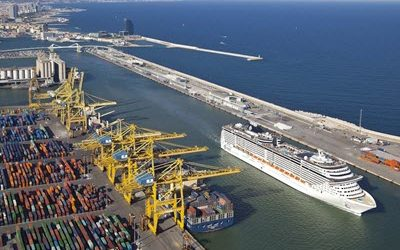 The Port of Barcelona has closed the best first semester of the year in its history with an upturn of 18 %