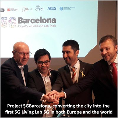 Project 5GBarcelona, converting the city into the first 5G Living Lab 5G in both Europe and the world